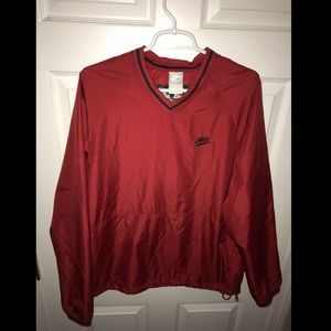 Nike baseball jacket size medium red lightweight